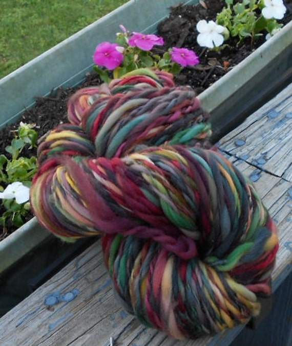 Handspun Yarn, Nature's Warmth, Aran Weight, 142 yards, Handspun Wool Yarn