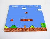 Mario Bros world 1-1 mousepad