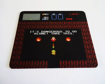 Awesome It's Dangerous Zelda mousepad