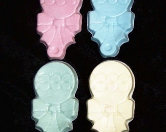 24 Adorable Rattle Soaps - Baby Shower Soap Favors