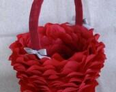 Red Rose Petal Basket