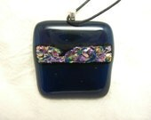 Fused Glass-Dicro on Deep Blue