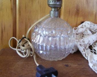 Ornate Crystal Ball Lamp Antique Art Deco Lighting