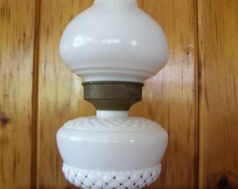 Milk Glass Lamp Electric Light Antique 1940's Art Deco Home Decor