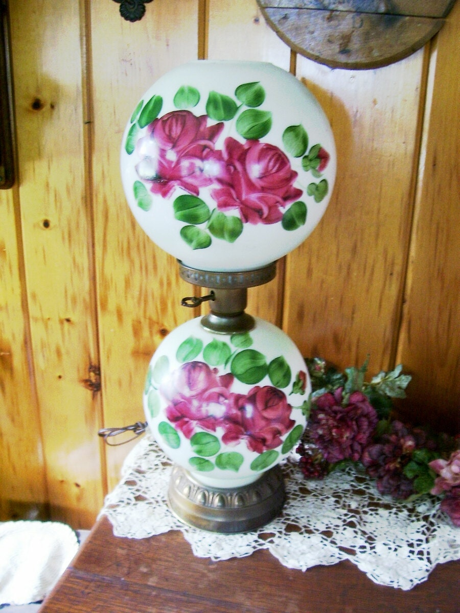Victorian Parlor Lamp Kerosene Converted To By