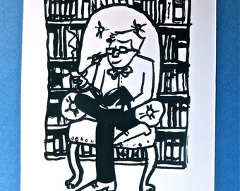From the Library Of Illustrated Screen Printed Bookplates 10 pack
