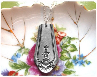 Plymouth Silverplate Spoon Necklace, Vintage, Upcycled, Bridesmaid Gift, Vintage Wedding