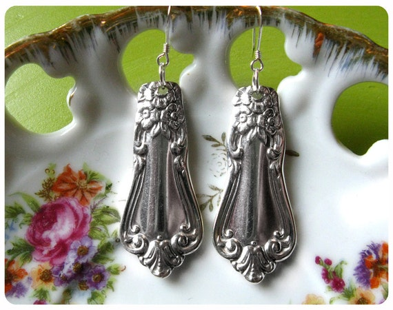 Valley Rose1956 Spoon Earrings, Vintage, Upcycled, Bridesmaid Gift, Vintage Wedding, 1956 Anniversary/Birthday