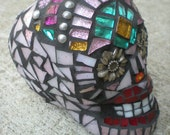 Custom Mosaic Stained Glass Skull