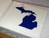 Michigan Map Vinyl Decal