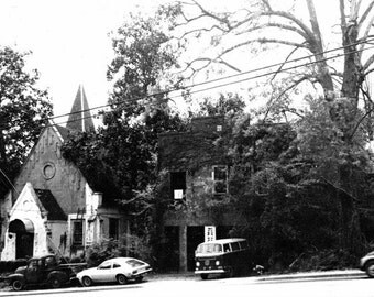 REM Church ATHENS,GA & The Print Shop 8X10 photo 1980