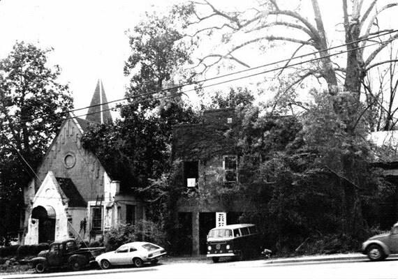 REM Church ATHENS,GA & The Print Shop 8X10 photo 1980