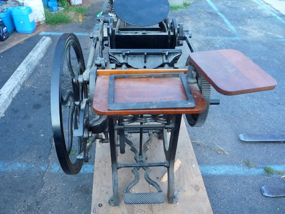 8x12 OLD STYLE GORDON treadle letterpress restored