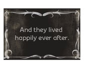 Happily Ever After Silent Film Vintage Look Greeting Card Blank Inside