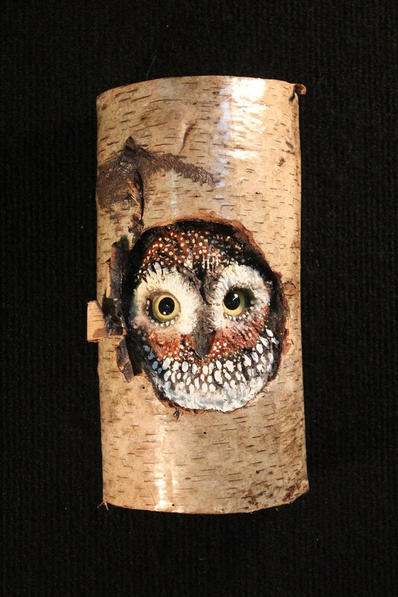 Wildlife Wood Bird Carving Owl Art