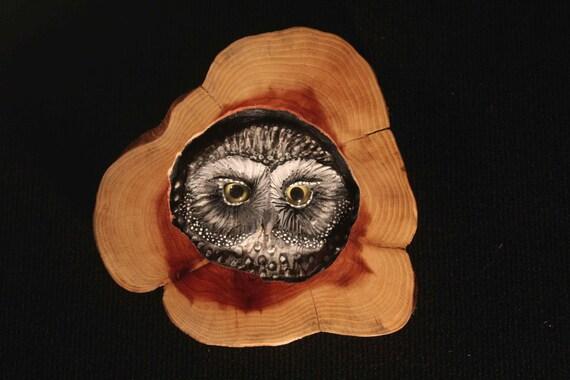 Wood Carving in Red Cedar