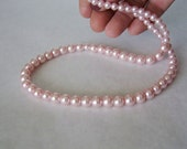 Pearl Necklace Soft Pink Elegant Evening Wear