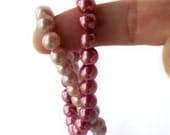 SALE Pearl Bracelets in Dark Rose and Light Rose Pink fashion jewelry
