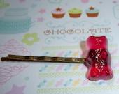 Red Gummy Bear Hair Pin