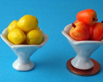 Lemons and Apples Dollhouse 1/12 Scale Miniature Platters