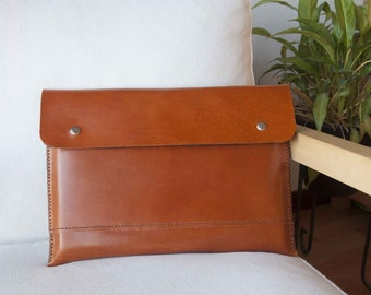 15 inch MacBook Pro Retina case, MacBook Pro retina sleeve, MacBook Retina case, MacBook Retina case  - with pocket in brown leather