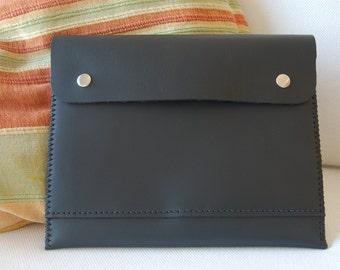 IPad case, IPad retina case, leather IPad case, IPad sleeve, IPad retina sleeve - black leather