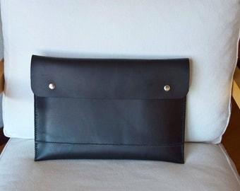13 inch MacBook Pro case, MacBook Pro 13 case, 13 MacBook case, 13 MacBook sleeve, laptop case, 13 inch MacBook sleeve - Black leather