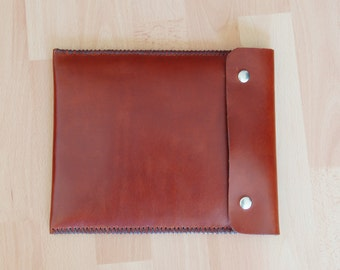 IPad 3 case, IPad case, IPad retina case, leather IPad case - Dark brown leather