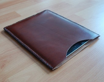 IPad case, IPad 3 case, IPad retina case, IPad sleeve, IPad retina sleeve, IPad cover - Dark Brown leather