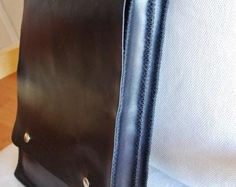 MacBook 15 bag, 15 inch MacBook Pro retina bag, MacBook Pro bag, Messenger bag, office bag - black leather - with pocket - adjustable strap