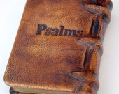 Book of Psalms leather bound english hebrew