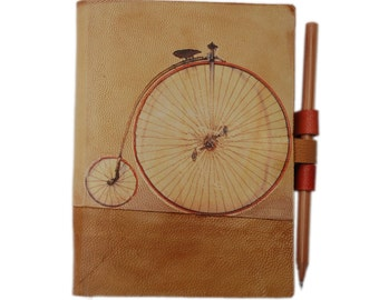 Free initials Bicycle leather journal