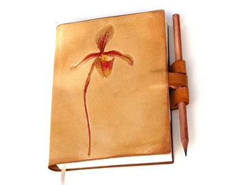 Spring Wild Orchid Leather Journal