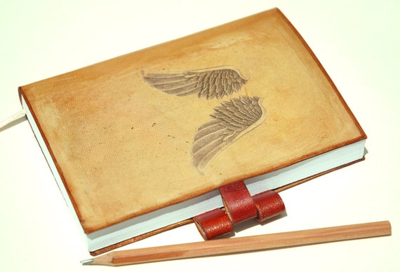 Free your mind leather journal free initials by request