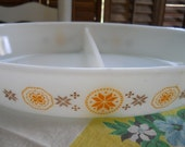 Vintage Pyrex 1963 Town and Country Split Casserole Dish