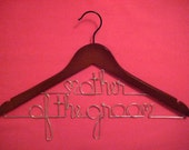 Personalized Double Hanger for Mother of the Groom or Bride - Unique Bridal Party Accessory
