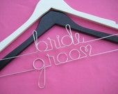 Last Name Hanger for Bridal Shower Gift or Wedding Dress Photo Prop Personalized Hangers