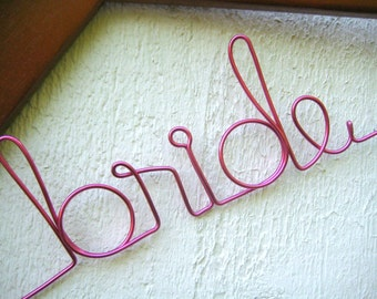 Personalized Wire Bridal Hanger Custom Made for Wedding Dress 12 Wire Colors