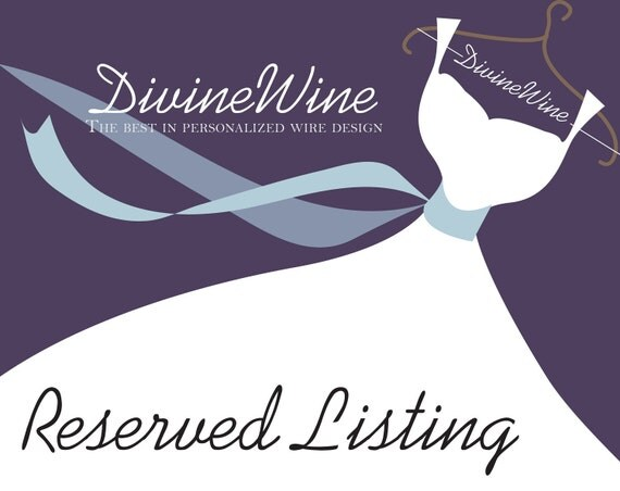 RESERVED listing for dawnwilkinson. Please do not purchase if you are dawnwilkinson.