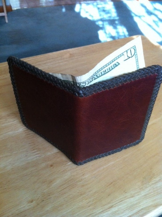 Handmade Braided Mens Leather Wallet