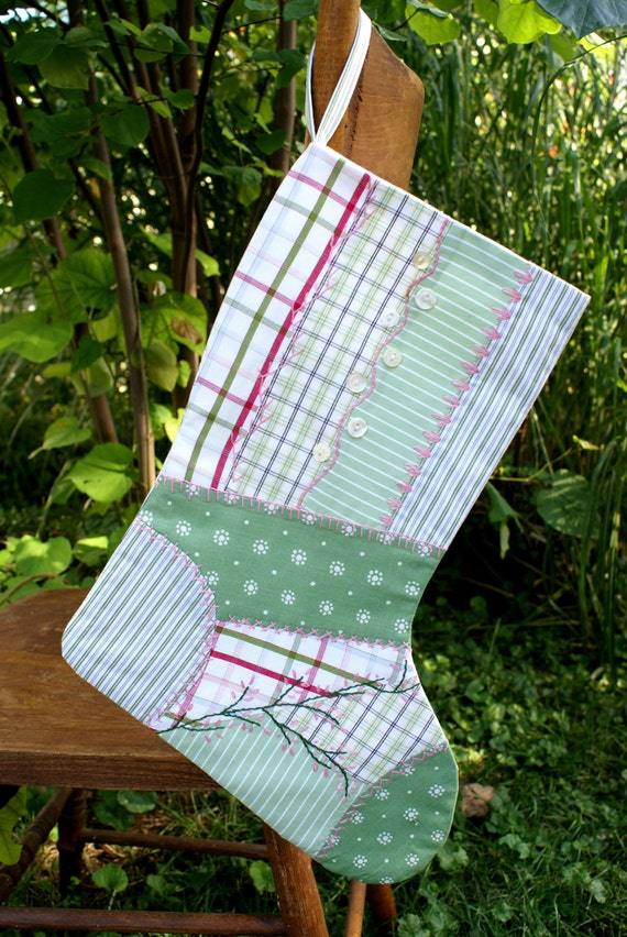 Heirloom quality crazy quilt patchwork christmas stocking