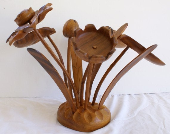 Mid Century Modern Art Wooden Bouquet