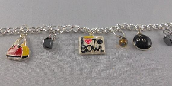 The Big Lebowski Silver Bowling Charm Bracelet