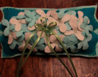 OOAK  Felt Handstitched RING BEARERS Wedding Pillow Special reg. 20.00 now 11.00