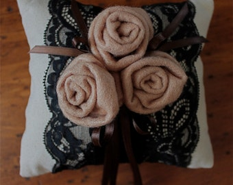 OOAK Ring Bearers Rose Garden Wedding PIllow SPECIAL reg. 32.00 now 16.00