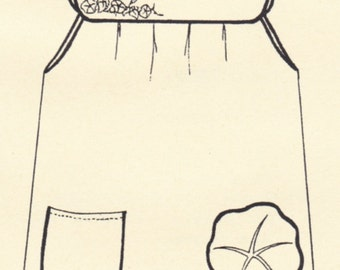 Apron Pattern Calico Cat Mary's Morning Glory