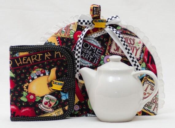 Tea Cozy and Tea Wallet Gift Set