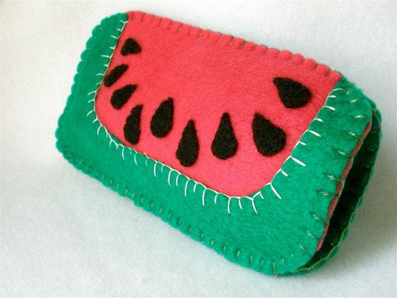Watermelon Eyeglass Case