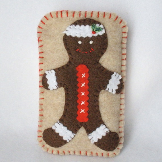 Christmas Cell Phone Case - Gingerbread Man White
