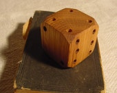 SALE - Giant - Lucky Oak Wooden Dice - Unique - Cube - Decorative - Handcrafted - Functional Art